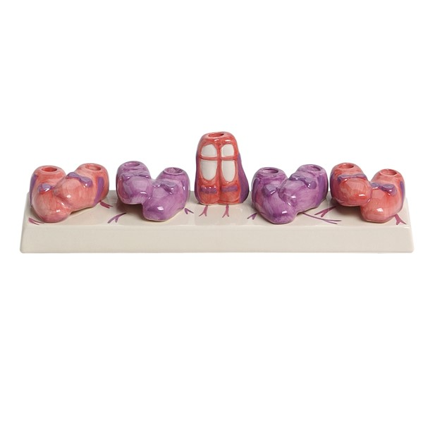 Ballet Slipper Ceramic Menorah