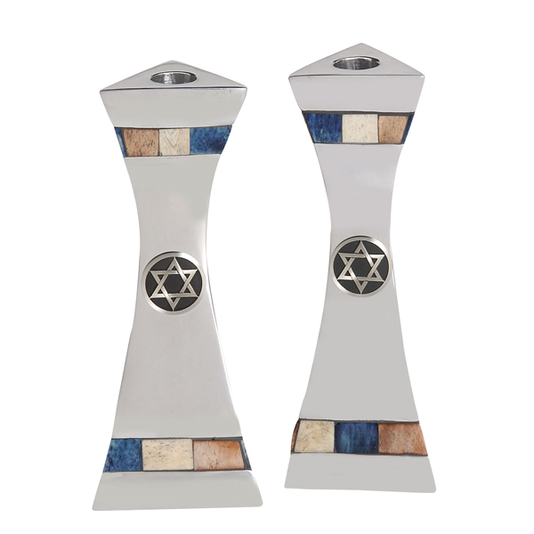 Candle Sticks with Star of David