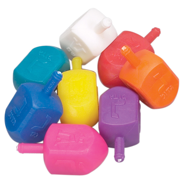 Plastic Multi-colored Dreidels