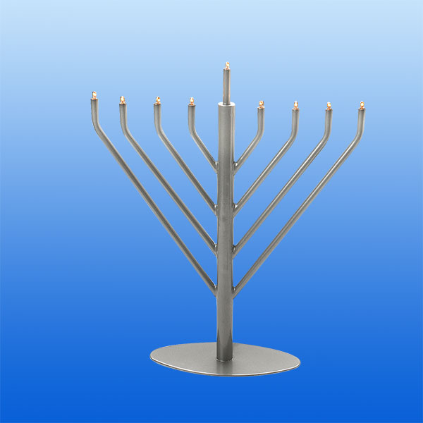 Pewter Electric Menorah