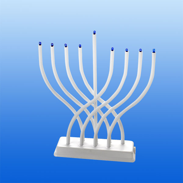 White Electric Menorah