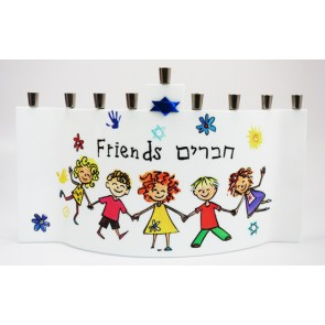 Friends/Chaverim Glass Menorah