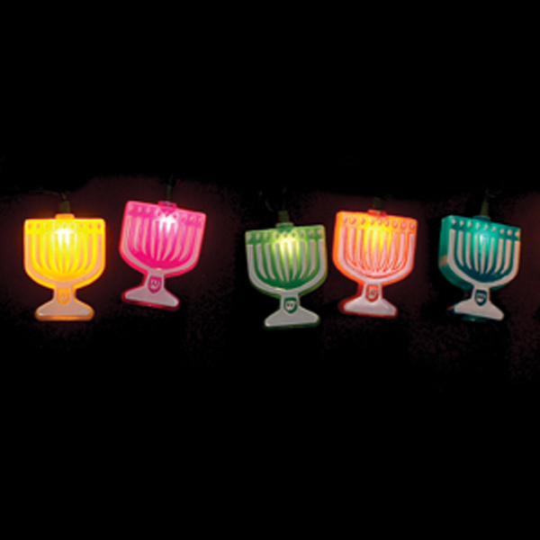 Menorah Hanging Electric Lights