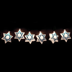 Star of David Hanging Electric Lights