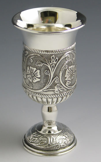 Kiddush Cup with Flowers