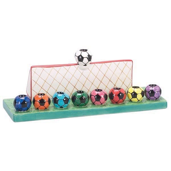 Ceramic Soccer Menorah