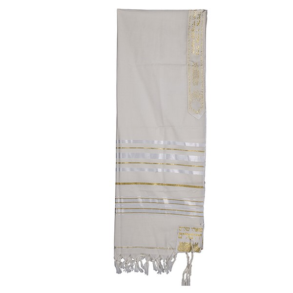 White with Gold Tallit