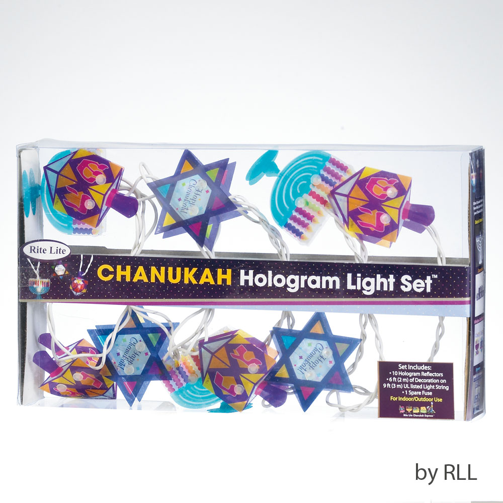 Chanukah Hologram Light Set